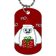 Yeti Xmas Dog Tag (two Sides) by Valentinaart