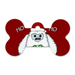 Yeti Xmas Dog Tag Bone (two Sides) by Valentinaart