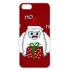 Yeti Xmas Apple Iphone 5 Seamless Case (white) by Valentinaart