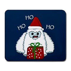 Yeti Xmas Large Mousepads by Valentinaart