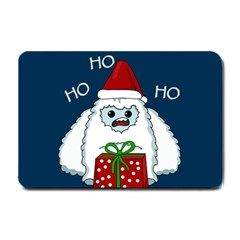 Yeti Xmas Small Doormat  by Valentinaart