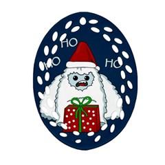 Yeti Xmas Ornament (oval Filigree) by Valentinaart