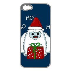 Yeti Xmas Apple Iphone 5 Case (silver) by Valentinaart
