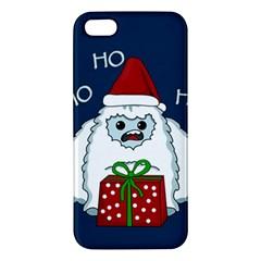 Yeti Xmas Apple Iphone 5 Premium Hardshell Case by Valentinaart