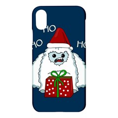Yeti Xmas Apple Iphone X Hardshell Case by Valentinaart