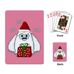 Yeti Xmas Playing Card by Valentinaart