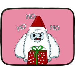 Yeti Xmas Fleece Blanket (mini) by Valentinaart