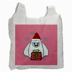 Yeti Xmas Recycle Bag (one Side) by Valentinaart