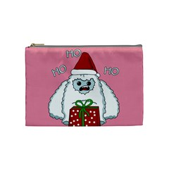 Yeti Xmas Cosmetic Bag (medium)  by Valentinaart