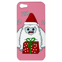Yeti Xmas Apple Iphone 5 Hardshell Case by Valentinaart