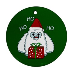 Yeti Xmas Round Ornament (two Sides) by Valentinaart
