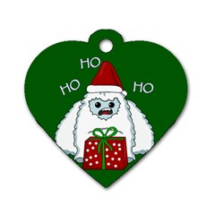 Yeti Xmas Dog Tag Heart (one Side) by Valentinaart