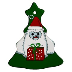 Yeti Xmas Ornament (christmas Tree)  by Valentinaart