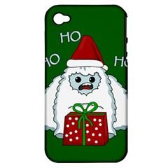 Yeti Xmas Apple Iphone 4/4s Hardshell Case (pc+silicone) by Valentinaart