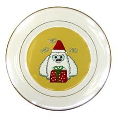 Yeti Xmas Porcelain Plates by Valentinaart