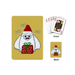 Yeti Xmas Playing Cards (mini)  by Valentinaart