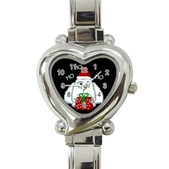 Yeti Xmas Heart Italian Charm Watch by Valentinaart