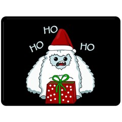 Yeti Xmas Double Sided Fleece Blanket (large)  by Valentinaart