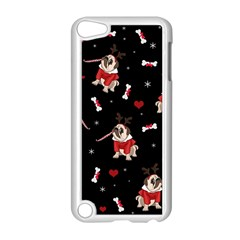 Pug Xmas Pattern Apple Ipod Touch 5 Case (white) by Valentinaart