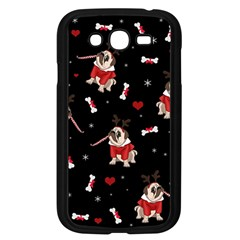 Pug Xmas Pattern Samsung Galaxy Grand Duos I9082 Case (black) by Valentinaart