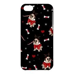 Pug Xmas Pattern Apple Iphone 5c Hardshell Case by Valentinaart