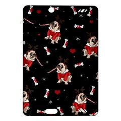 Pug Xmas Pattern Amazon Kindle Fire Hd (2013) Hardshell Case by Valentinaart