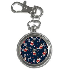 Pug Xmas Pattern Key Chain Watches by Valentinaart