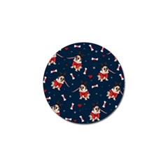 Pug Xmas Pattern Golf Ball Marker (10 Pack) by Valentinaart