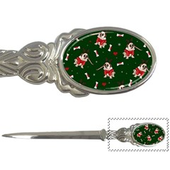Pug Xmas Pattern Letter Openers by Valentinaart