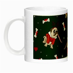 Pug Xmas Pattern Night Luminous Mugs by Valentinaart