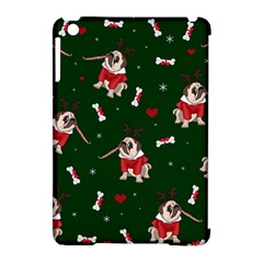 Pug Xmas Pattern Apple Ipad Mini Hardshell Case (compatible With Smart Cover) by Valentinaart