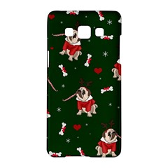 Pug Xmas Pattern Samsung Galaxy A5 Hardshell Case  by Valentinaart