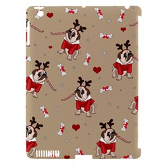 Pug Xmas Pattern Apple Ipad 3/4 Hardshell Case (compatible With Smart Cover) by Valentinaart