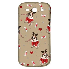 Pug Xmas Pattern Samsung Galaxy S3 S Iii Classic Hardshell Back Case by Valentinaart