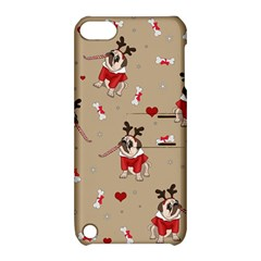Pug Xmas Pattern Apple Ipod Touch 5 Hardshell Case With Stand by Valentinaart