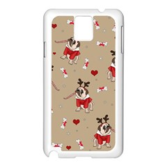 Pug Xmas Pattern Samsung Galaxy Note 3 N9005 Case (white) by Valentinaart