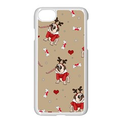 Pug Xmas Pattern Apple Iphone 8 Seamless Case (white) by Valentinaart