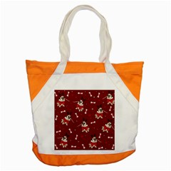 Pug Xmas Pattern Accent Tote Bag by Valentinaart