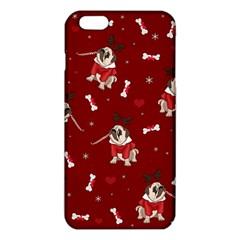 Pug Xmas Pattern Iphone 6 Plus/6s Plus Tpu Case by Valentinaart