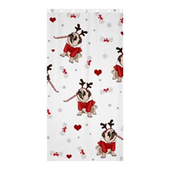 Pug Xmas Pattern Shower Curtain 36  X 72  (stall)  by Valentinaart