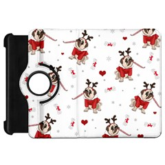 Pug Xmas Pattern Kindle Fire Hd 7  by Valentinaart
