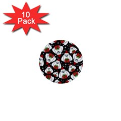 Yeti Xmas Pattern 1  Mini Buttons (10 Pack)  by Valentinaart