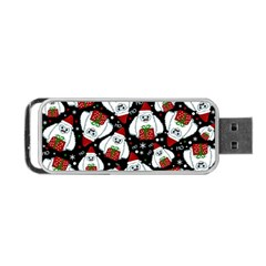 Yeti Xmas Pattern Portable Usb Flash (two Sides) by Valentinaart