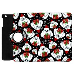 Yeti Xmas Pattern Apple Ipad Mini Flip 360 Case by Valentinaart