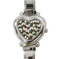 Yeti Xmas Pattern Heart Italian Charm Watch by Valentinaart