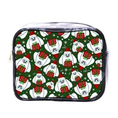 Yeti Xmas Pattern Mini Toiletries Bags by Valentinaart