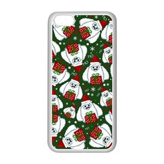 Yeti Xmas Pattern Apple Iphone 5c Seamless Case (white) by Valentinaart