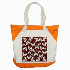 Yeti Xmas Pattern Accent Tote Bag by Valentinaart