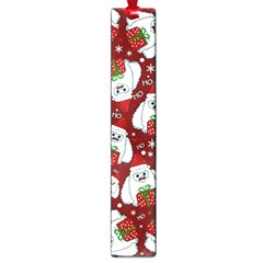 Yeti Xmas Pattern Large Book Marks