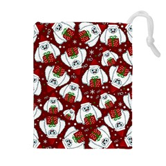 Yeti Xmas Pattern Drawstring Pouches (extra Large) by Valentinaart